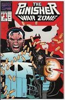 Marvel Comics The Punisher War Zone #1 NM March 1992 Die Cut Cover First Issue