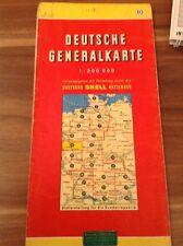 Straßenkarte Deutsche Generalkarte 10 Blatt Mair 1963 1:200 000 Shell