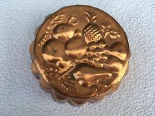 Copper jelly mould fruit design top lot E031118M