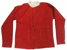 "XX Large (50""-52"") Red Leather Jacket for Welder / Blacksmith"