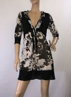 FAYE BROWN SIZE 12 SEMI SHEER FLORAL DRESS