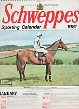 RARE COLLECTIBLE VINTAGE 1982 SCHWEPPES HORSE RACING SPORTING CALENDAR UNUSED