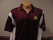 Beautiful Minnesota Gophers Men's Md Maroon & White Russell Polo Shirt, New&Nice
