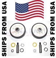 (2 PACK) Maytag Dryer Roller Wheel Drum Support Kit 303373K for 12001541 312948