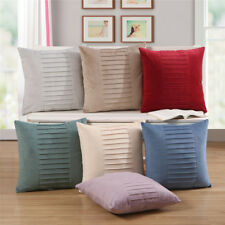 Solid Color Short Plush Sofa Cushion Cover Car Seat Office Home Bedroom Decor