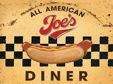 New 15x20cm Joe's American Diner retro small metal advertising wall sign