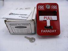 New listing New Faraday 10561 Manual Fire Alarm Pull Station W/Key