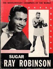 1952-1953 Sugar Ray Robinson Middleweight Champion Business Magazine