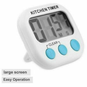 UK Large LCD Digital Kitchen Egg Cooking Timer Count Down Clock Alarm Stopwatch