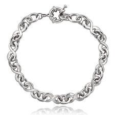 """Infinity Link Bracelet, 7.5"""" in Brass"""