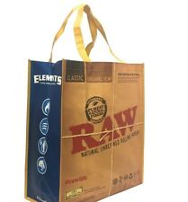 One Raw Elements Rolling Paper Reusable Grocery Tote Bag