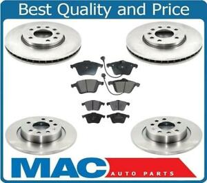 Fits For 2010-2011 9-3x SAAB Front & Rear Disc Brake Rotors W Ceramic Pads 6Pc