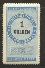 Liechtenstein 1879 Revenue 1 Gulden mint full original gum