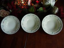 "3 NEWCOR # 6026 VICTORIA SOUP OR CEREAL BOWLS 7""R X 2""H 1989 MADE IN THAILAND"