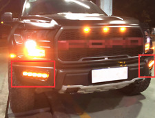 Pair DRL LED Daytime Running Light Yellow For Turn  For Ford F150 2016-2018