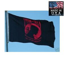 Red Us Pow Mia You Are Not Forgotten SuperPoly In/Outdoor Flag Banner*Usa Made
