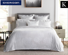 Sheridan Wainright King Bed Tailored Quilt Cover Dove 2 Pillowcase