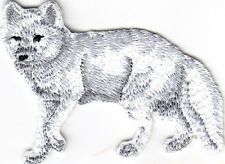 ARCTIC FOX - WILD ANIMAL - ZOO & JUNGLE ANIMALS - Iron On Embroidered Patch