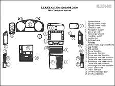 PREMIUM WOOD DASH TRIM KIT 26 PCS FITS LEXUS GS 1998-2000 NAVIGATION SYSTEM