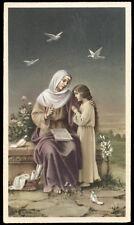 "santino-holy card""""ediz. NB serie L  n.534 MARIA ISTRUISCE GESU'"