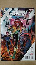 X-MEN BLUE #1 1ST PRINT (2017) MARVEL COMICS CYCLOPS JEAN BEAST ANGEL ICE-MAN