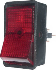 12v 12 Volt Red Rocker Switch On/Off Illuminated - Car Dash Board Tractor SH1