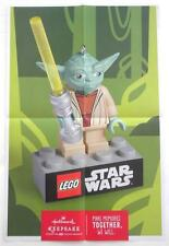 NEW 2013 SDCC Hallmark Lego Star Wars YODA Promotional Poster 18 x 12