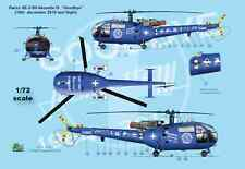 "[FFSMC Productions] Decals 1/72 Alouette III Suisse ""Goodbye"" dernier vol"