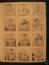 1964 Topps Wheaties Stamps Uncut Proof Sheet Mike Ditka