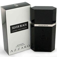 AZZARO SILVER BLACK FOR MEN  1.7 oz 50ml EDT ** NIB (Not 3.3 or 3.4 oz )