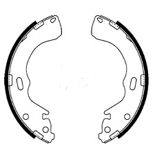 Holden RODEO RA RB 2002-2007 Rear Drum Brake Shoes NEW SET with WARRANTY