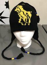 Polo Ralph Lauren Big Pony Tasseled Black Lambswool Ski Hat Ear Flap MSRP $75