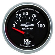 Autometer 3627 Sport-Comp II Oil pressure Gauge, 2-1/16 in., Electrical