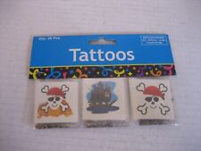 Party Favor/Goodie Bag Treats Pirate Kid Tattoos 3 Styles 39/1856 Qty 36pcs NWIP