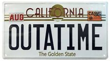 More details for back to the future outatime delorean license plate metal sign fanattic - officia