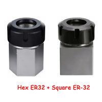 Square ER-32 + Hex ER32 Verlängerung Spannzangenaufnahme Spannzangenfutter RF