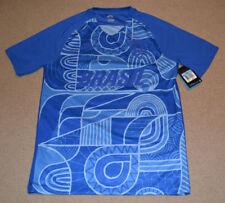 Nike Men's Sb Brasil Soccer Shirt Blue Size Large 827296 493
