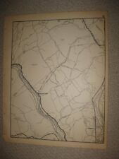 ANTIQUE 1931 ANSONIA SQUANTUCK DERBY SEYMOUR FAIRFIELD COUNTY CONNECTICUT MAP NR