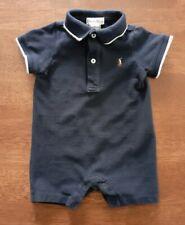 Polo Ralph Lauren Baby Boys Short Sleeve 1 PC Shortall Size 6 Months Navy Blue