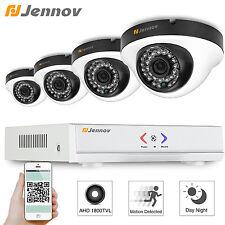 Jennov 4CH 1800Tvl Security Camera System AHD 1080N DVR Kit P2P Day Night Video