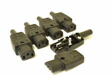 MARTIN KAISER SILVER PLATED IEC CONNECTOR  FOR DIY MAINS LEADS BULK PACK OF 5
