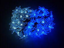 50 LED Blue&White Snowflake Solar Christmas Party Outdoor String Lights