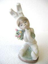 "Vintage Lladro ""Spring Flowers� Figurine Boy in Bunny Costume #1509 – No Box"