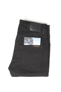 32398 Nudie Jeans Tape Ted Org. Black Ring Noir Hommes Jean Taille 30/32