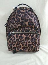 New Michael Kors Leopard Cheetah Nylon Kelsey Animal Print Large Backpack