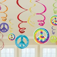 12 THEMED Foil Hanging Swirl Decorations %7bAmscan%7d (Party/Decoration/Birthday)