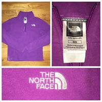 The North Face Girls Purple 1/2 Zip Fleece Pullover Sweater Size Medium