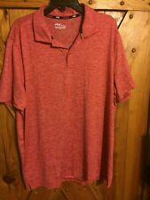Men's Fila Sport Live In Motion Polo Shirt Size Xl Red 100% Polyester Spandex