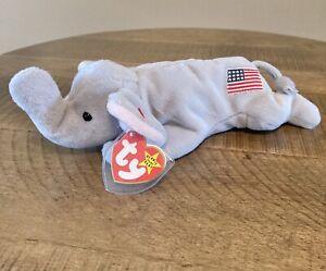 Righty The Elephant 1996 TY Beanie Baby Retired #4086 USA!