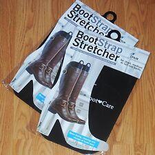 2 Pairs BOOT STRAP STRETCHER SHAPER DRY CLEAN STORAGE BLACK PLASTIC S M L New